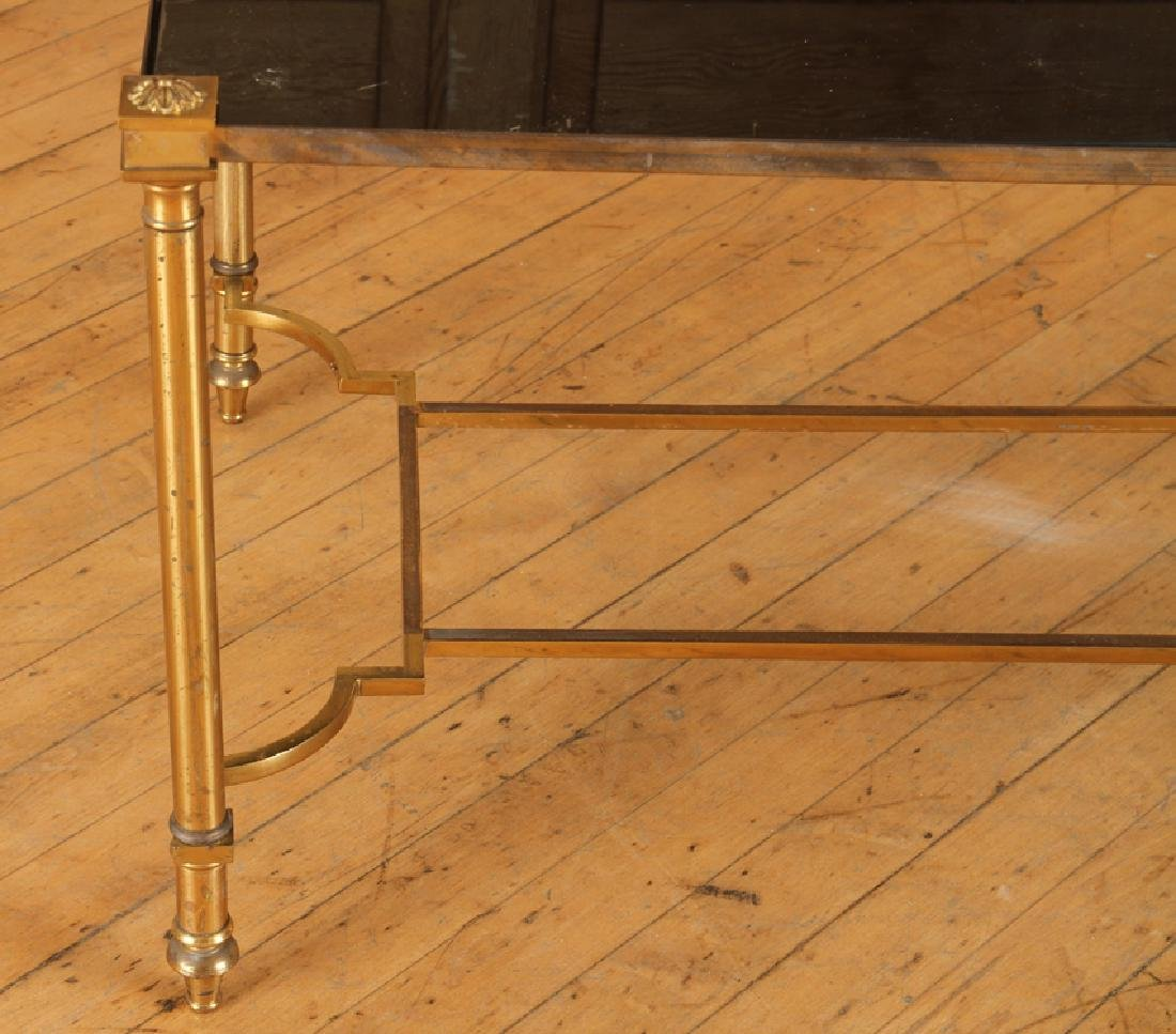 FRENCH BRONZE COFFEE TABLE BY JANSEN C.1950 - 4