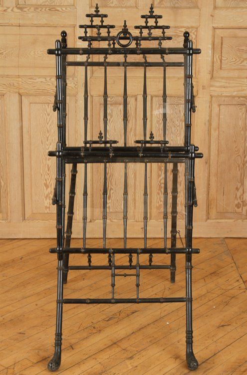 AESTHETIC MOVEMENT EBONIZED BAMBOO EASEL C. 1880 - 2
