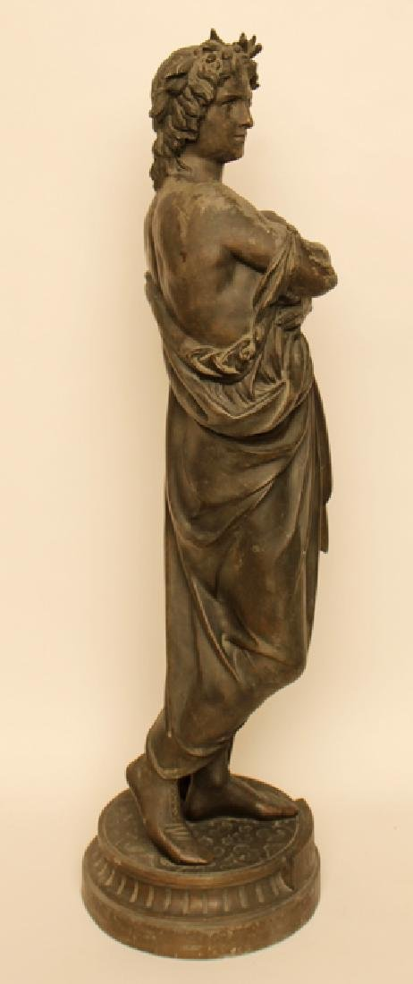 STANDING BRONZE STATUE OF POET VIRGIL - 2