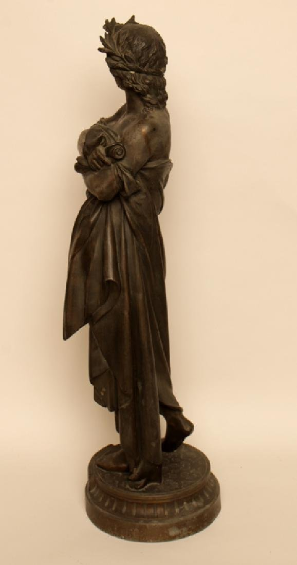 STANDING BRONZE STATUE OF POET VIRGIL - 3