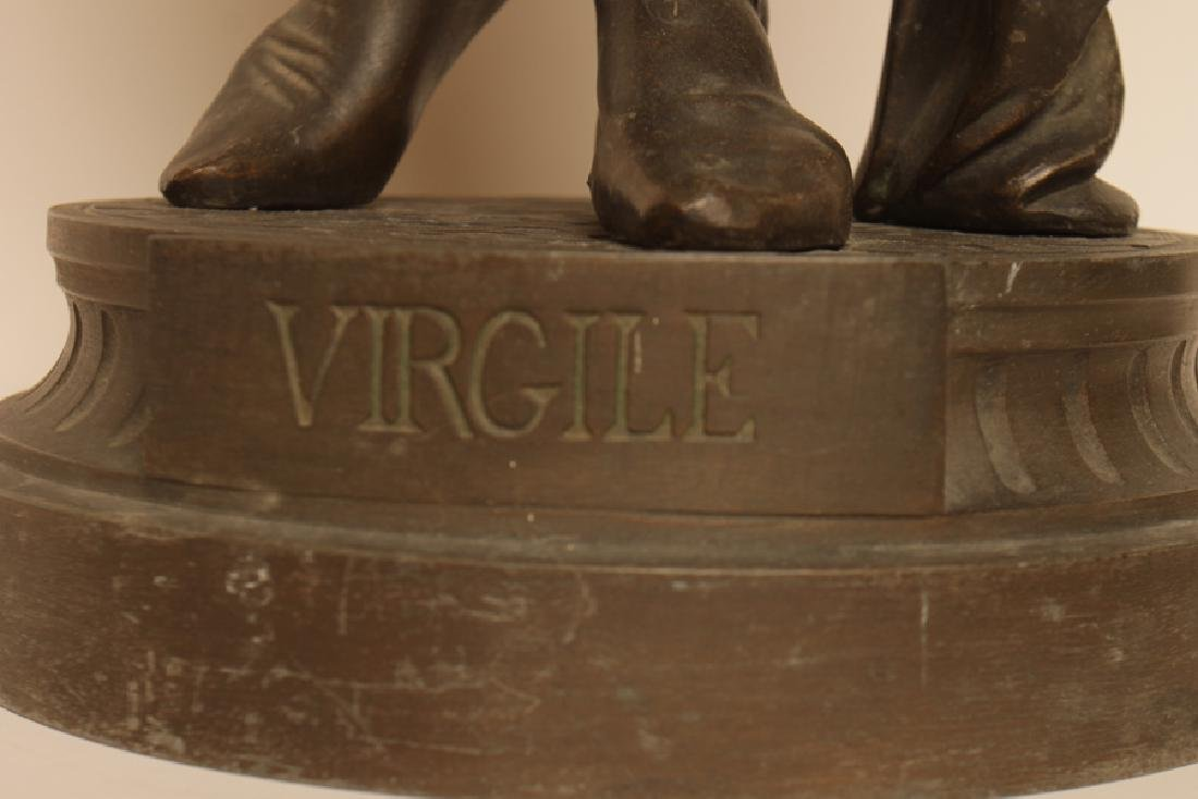 STANDING BRONZE STATUE OF POET VIRGIL - 5