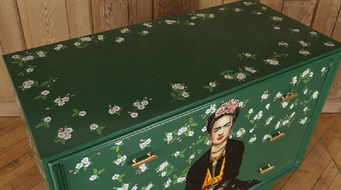 MID CENTURY MODERN DRESSER DEPICTING FRIDA KAHLO - 3