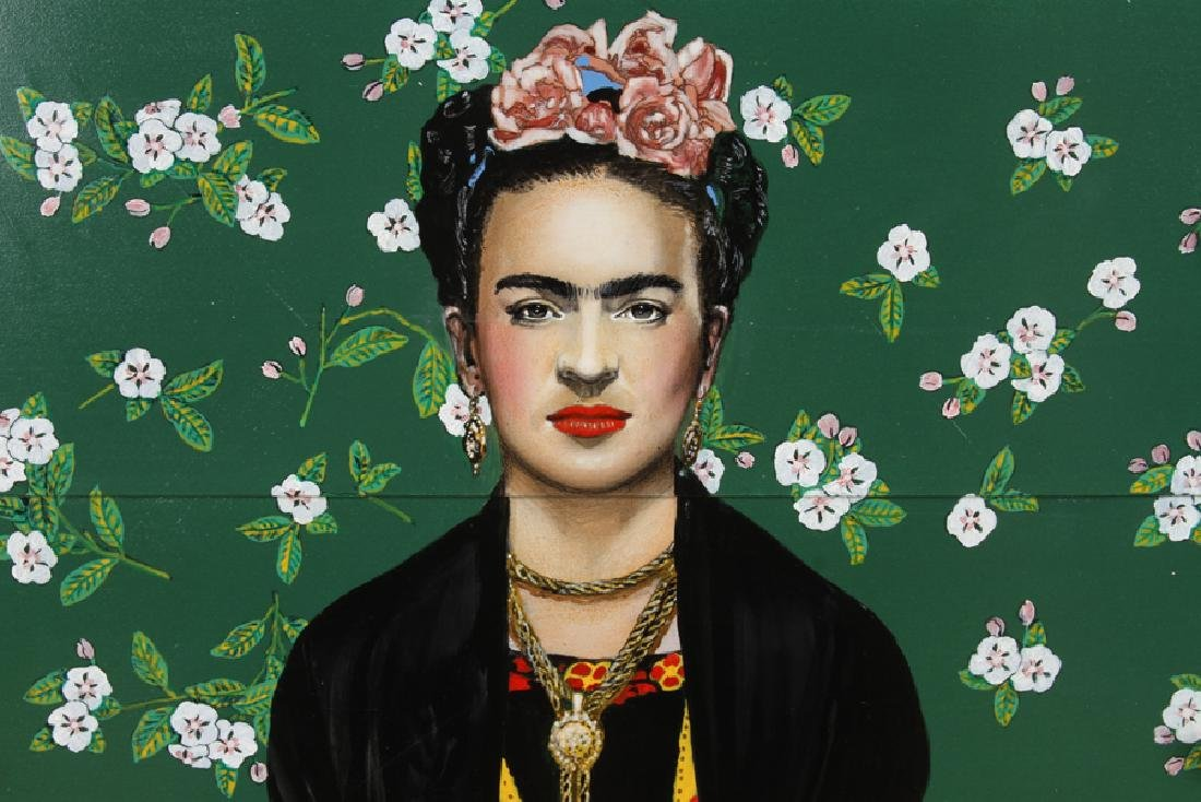MID CENTURY MODERN DRESSER DEPICTING FRIDA KAHLO - 4