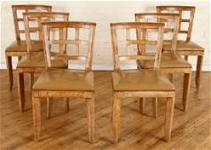 SET 6 CERUSED OAK DINING CHAIRS MANNER OF ADNET