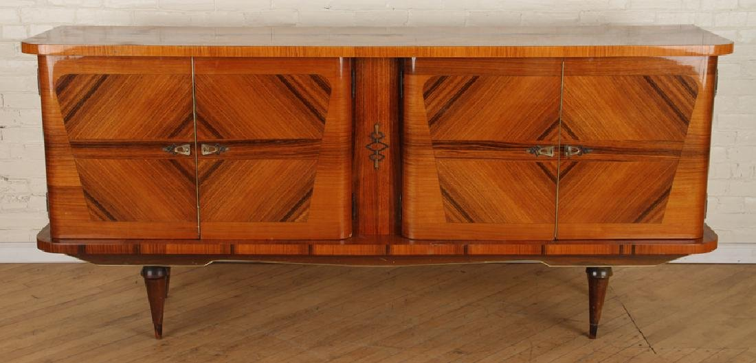 FRENCH FOUR DOOR ROSEWOOD SIDEBOARD CIRCA 1950