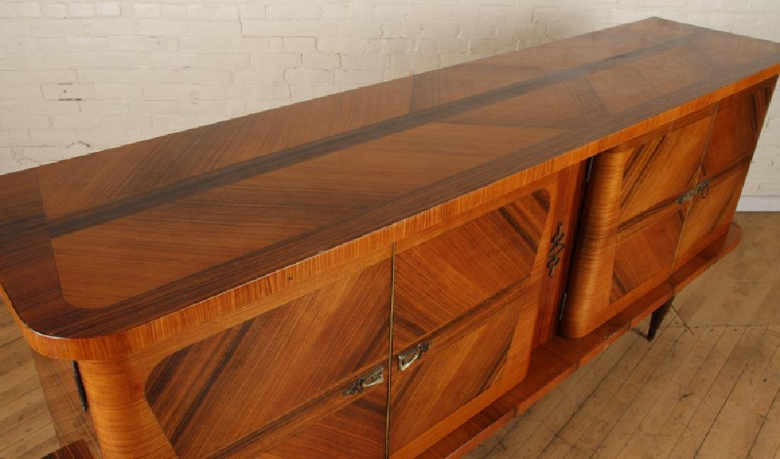 FRENCH FOUR DOOR ROSEWOOD SIDEBOARD CIRCA 1950 - 3