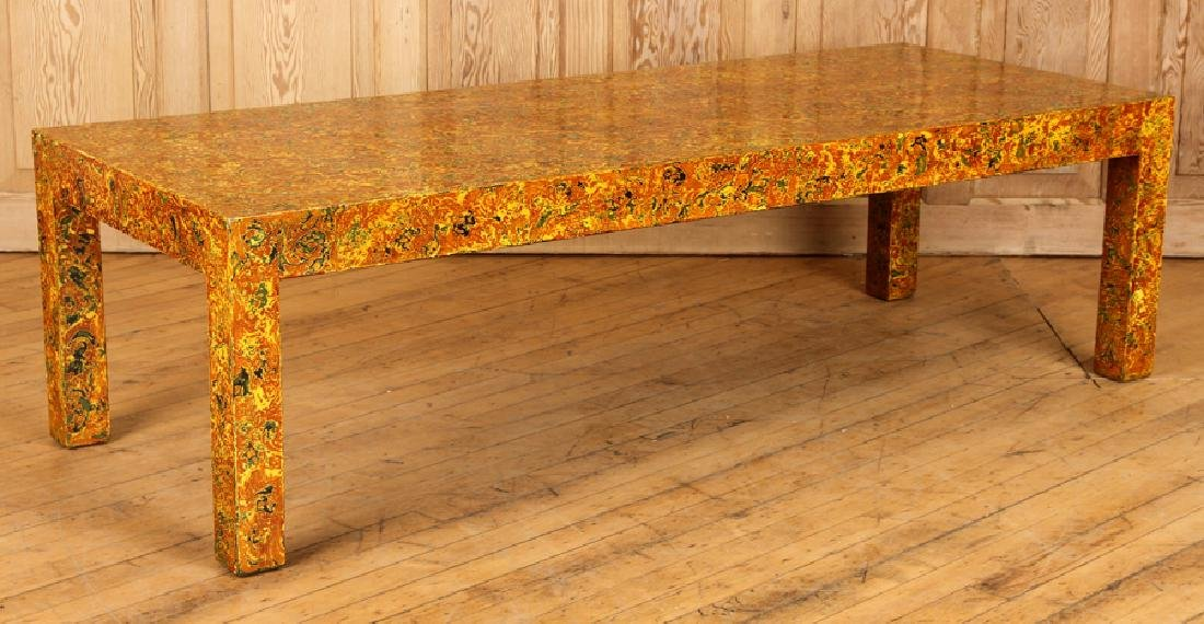 FAUX TORTOISE COFFEE TABLE BY THOMAS GRACE