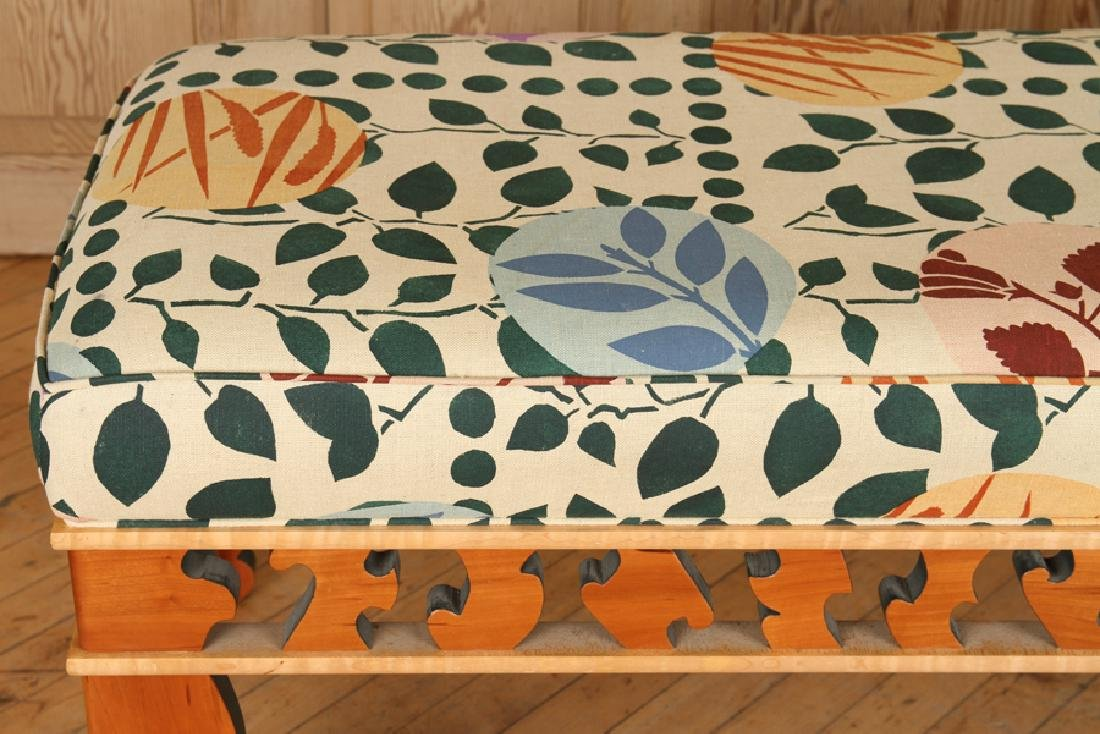 A MODERN MAPLE STUDIO BENCH SIGNED - 4