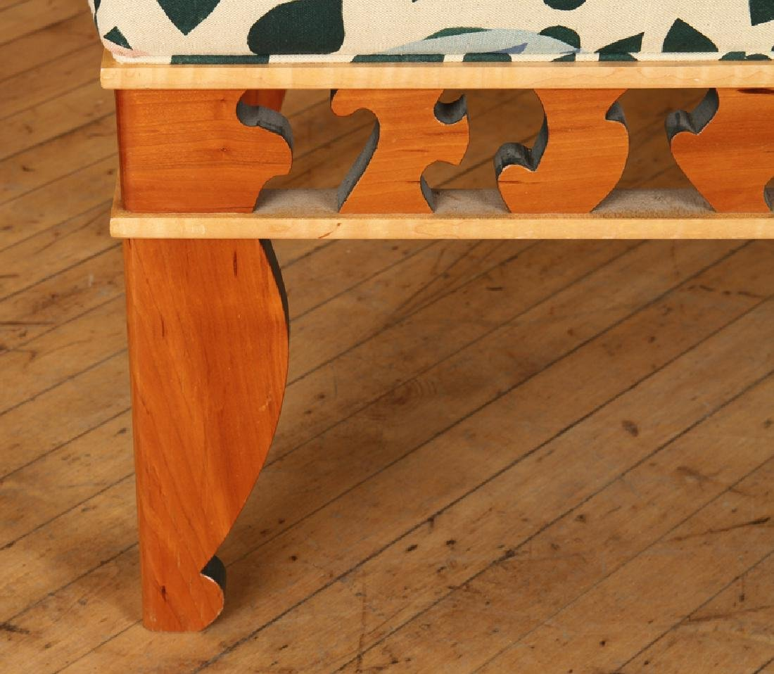 A MODERN MAPLE STUDIO BENCH SIGNED - 5
