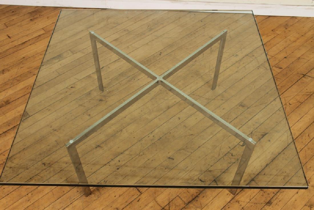 KNOLL GLASS AND CHROME BARCELONA TABLE C.1970 - 2