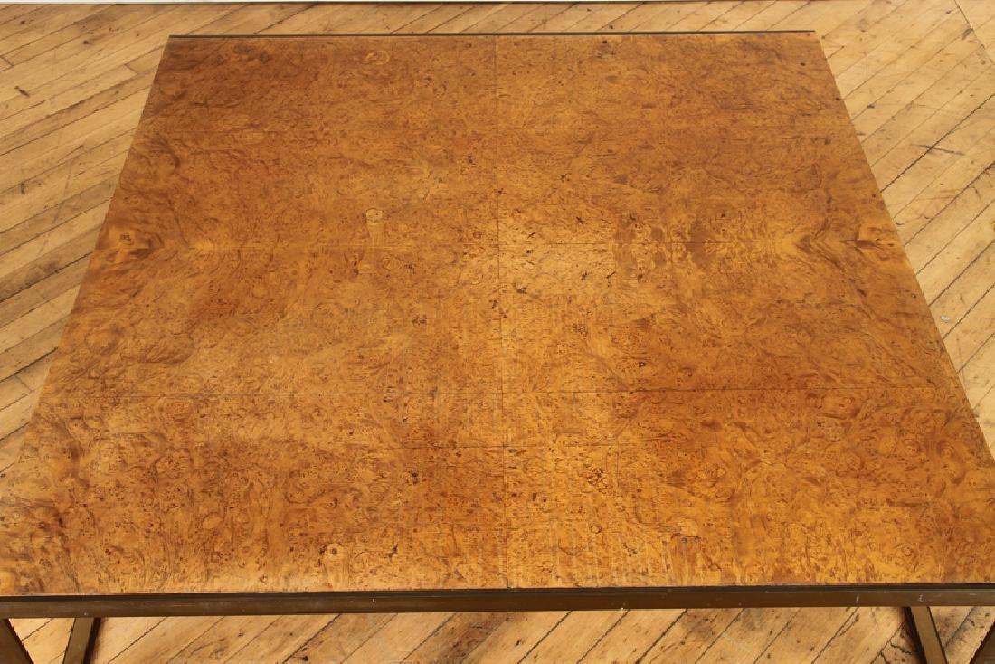 BURL WALNUT BRONZE COFFEE TABLE BY TONI CORDERO - 2