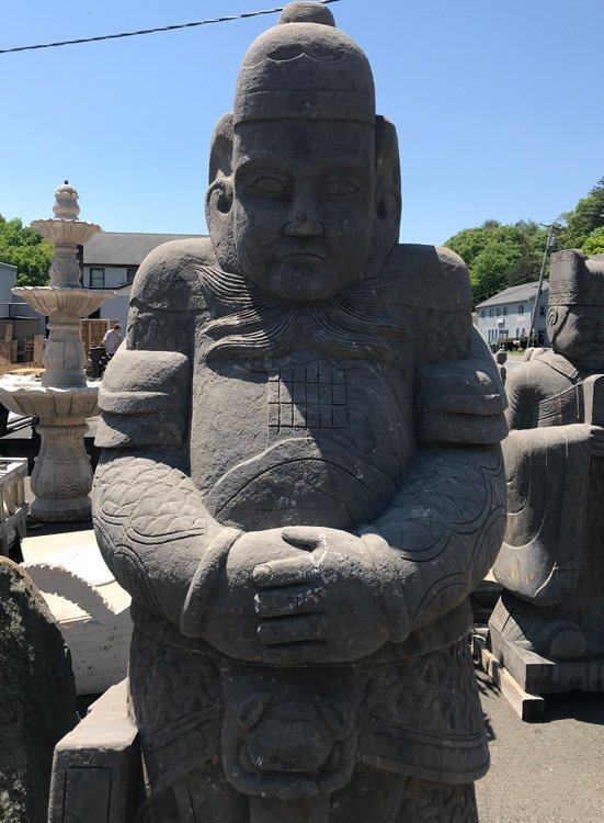 A CARVED STONE WARRIOR - 4