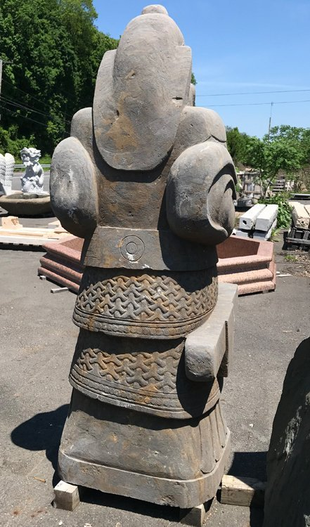 A CARVED STONE WARRIOR - 5