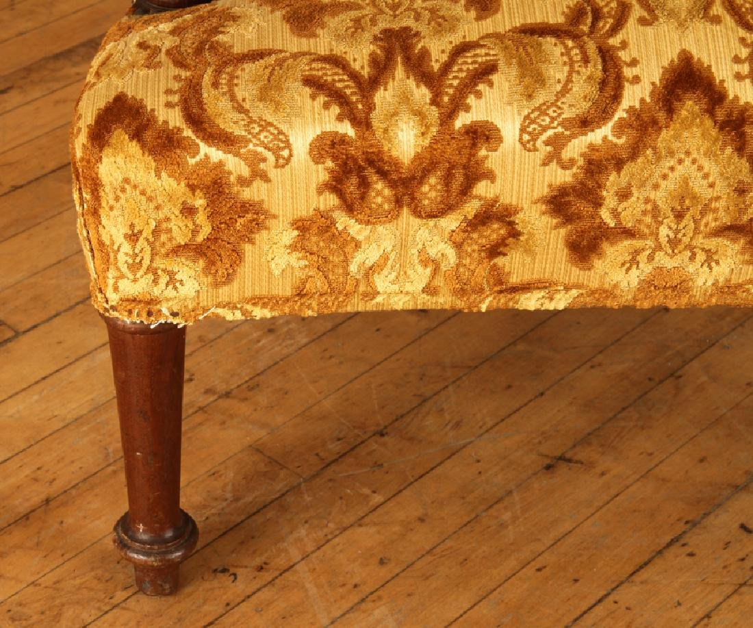PAIR UPHOLSTERED NAPOLEON III STYLE ARM CHAIRS - 5
