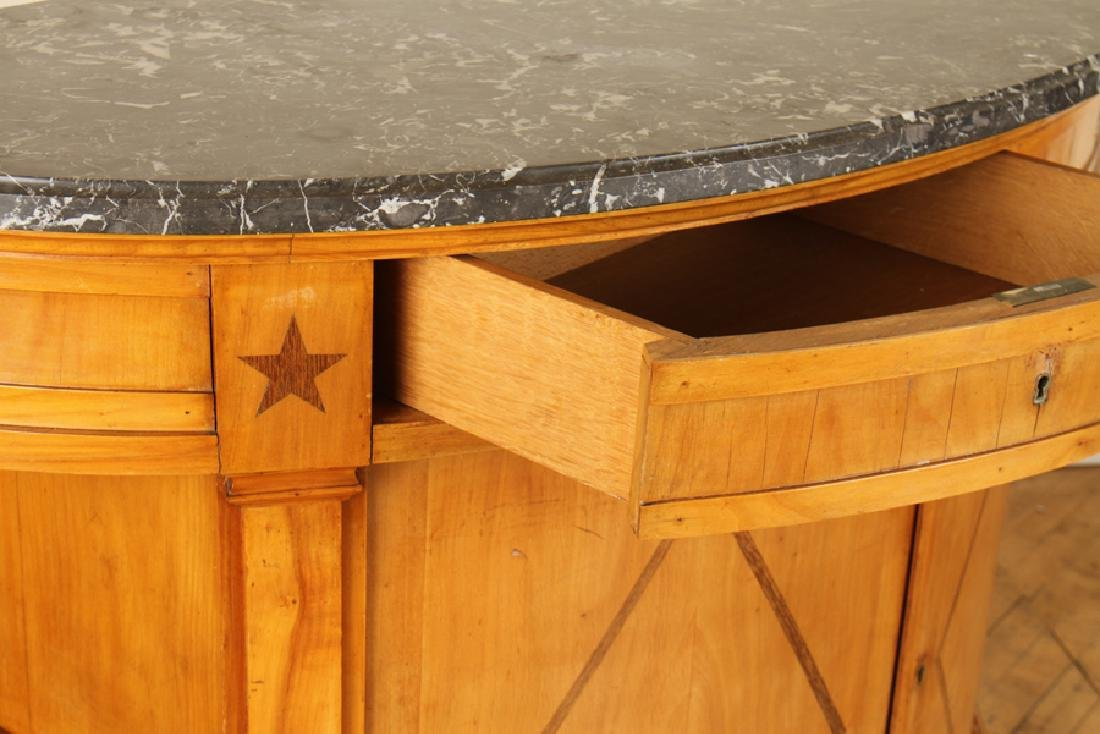 DIRECTOIRE STYLE MARBLE TOP SIDEBOARD C. 1920 - 4