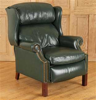 Han Moore Upholstered Leather Club Chair