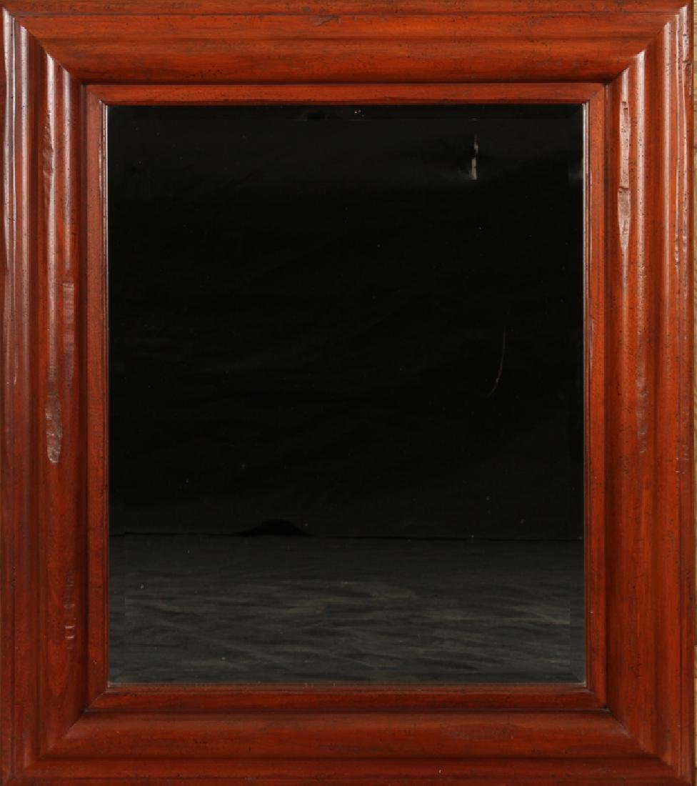 CARVED MAHOGANY MIRROR LABELED BAKER WEST INDIES
