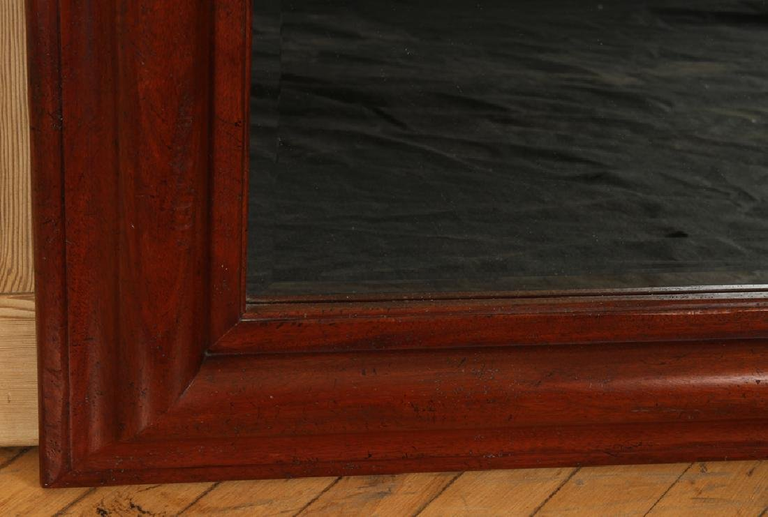 CARVED MAHOGANY MIRROR LABELED BAKER WEST INDIES - 3