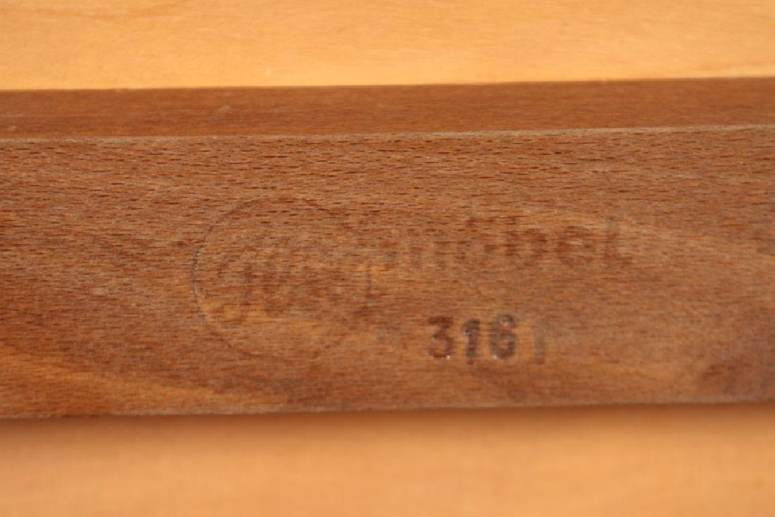SIGNED MAHOGANY COFFEE TABLE CIRCA 1960 - 6