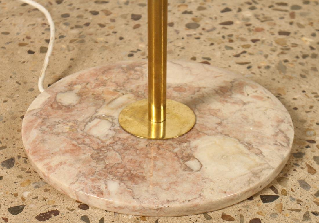 MID CENTURY MODERN ITALIAN GLASS BRASS FLOOR LAMP - 3