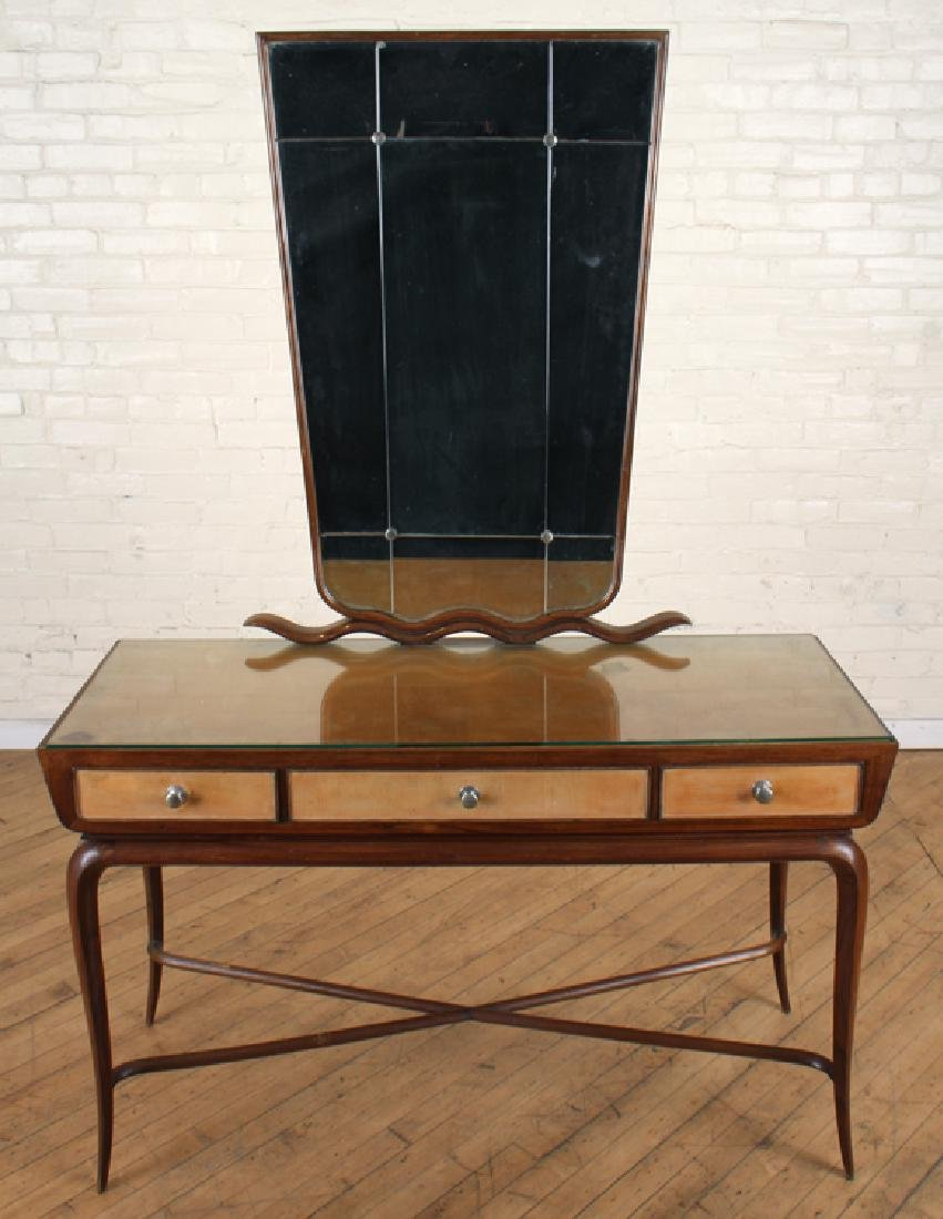 MID CENTURY MODERN ITALIAN 3 DRAWER CONSOLE TABLE