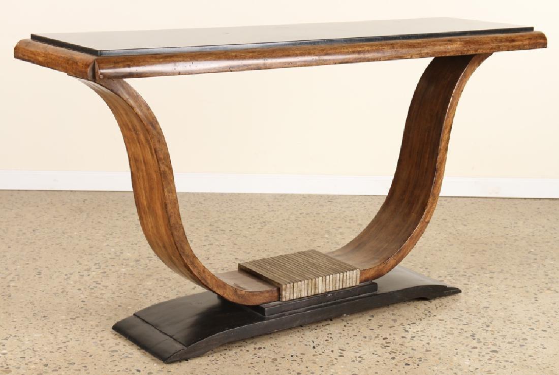 MAHOGANY SLATE TOP CONSOLE TABLE STYLE OF RUHLMAN