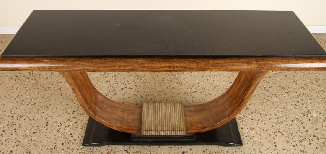 MAHOGANY SLATE TOP CONSOLE TABLE STYLE OF RUHLMAN - 3