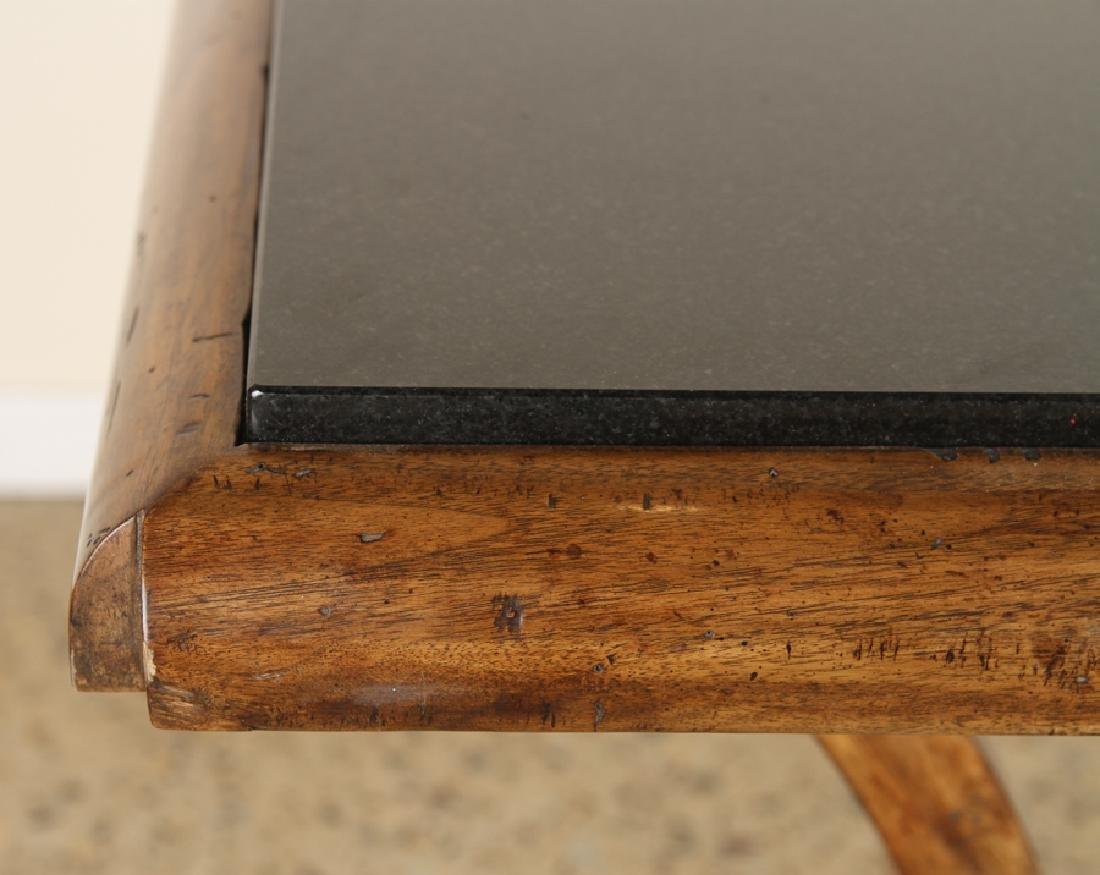 MAHOGANY SLATE TOP CONSOLE TABLE STYLE OF RUHLMAN - 4