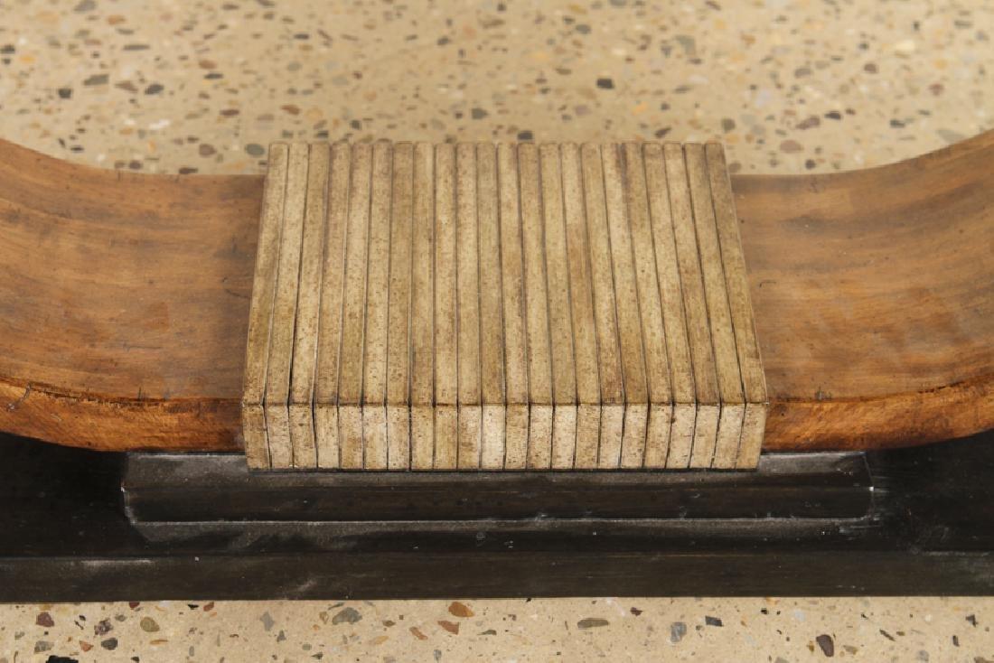 MAHOGANY SLATE TOP CONSOLE TABLE STYLE OF RUHLMAN - 5