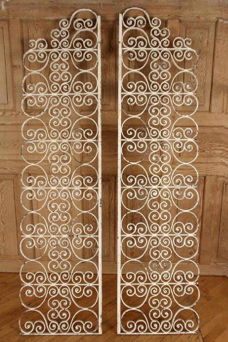 TWO SCROLL FORM IRON PANELS CIRCA 1940