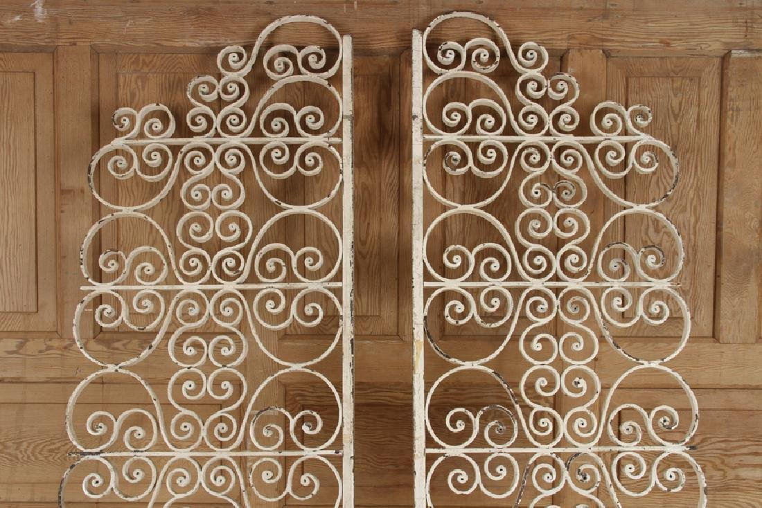 TWO SCROLL FORM IRON PANELS CIRCA 1940 - 2