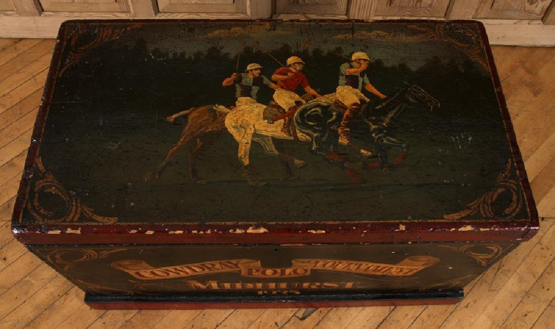 PAINTED WOOD MID HURST POLO TOURNAMENT TOY CHEST - 3