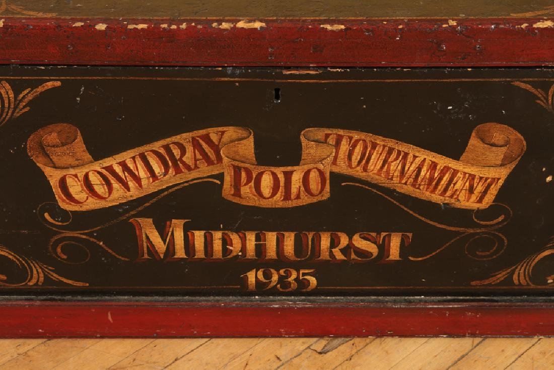 PAINTED WOOD MID HURST POLO TOURNAMENT TOY CHEST - 5