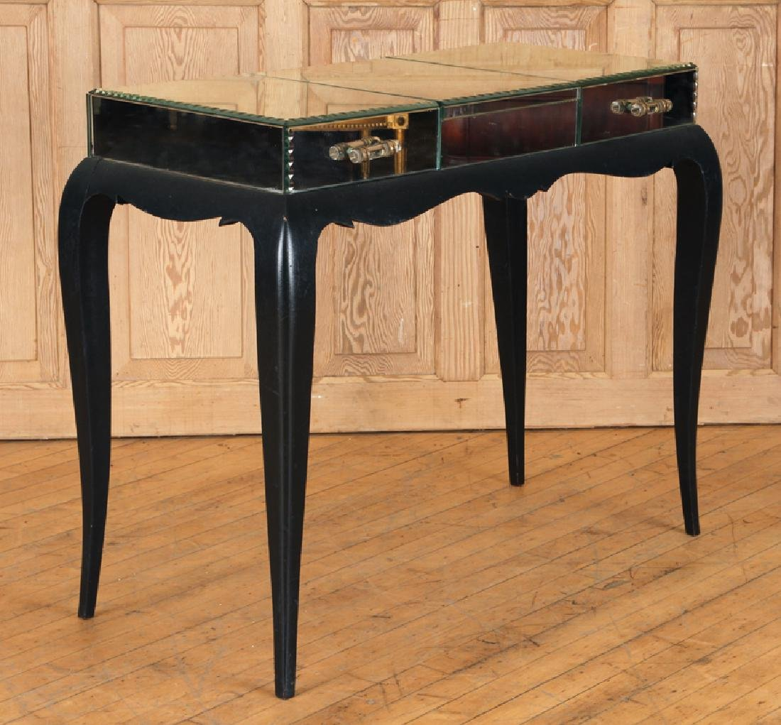 FRENCH CONSOLE TABLE MIRRORED TOP C.1950 - 2