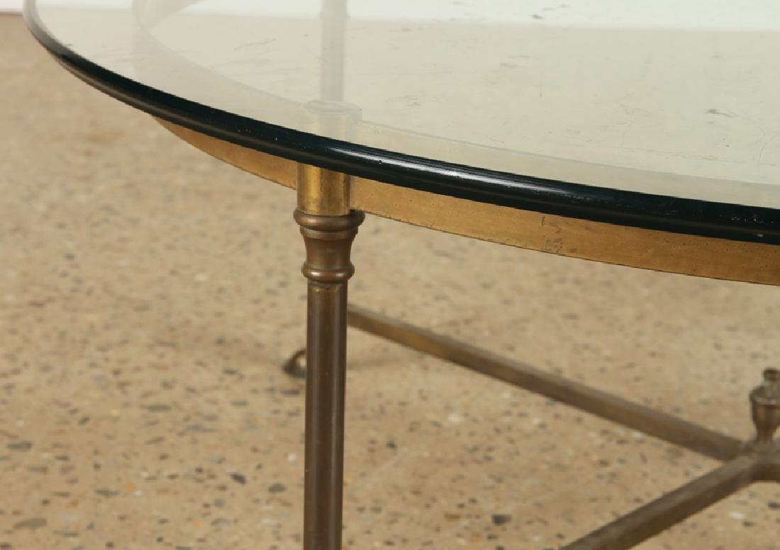 ROUND BRONZE GLASS COFFEE TABLE C.1970 - 3