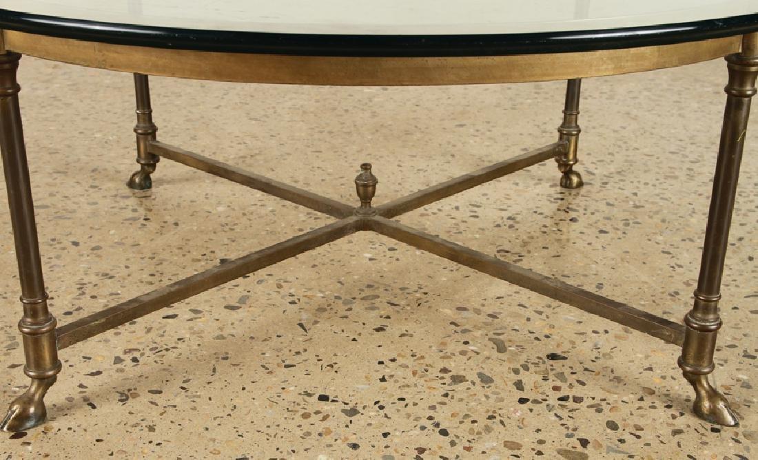 ROUND BRONZE GLASS COFFEE TABLE C.1970 - 4