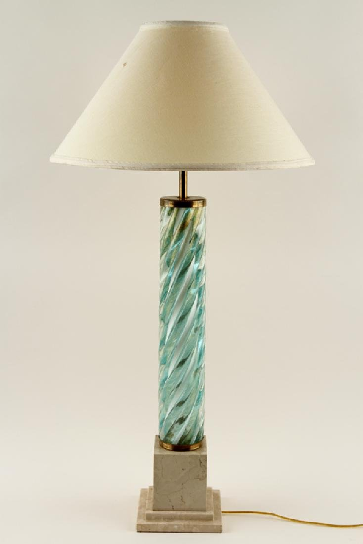 MURANO GLASS TABLE LAMP ON COMPOSITE BASE