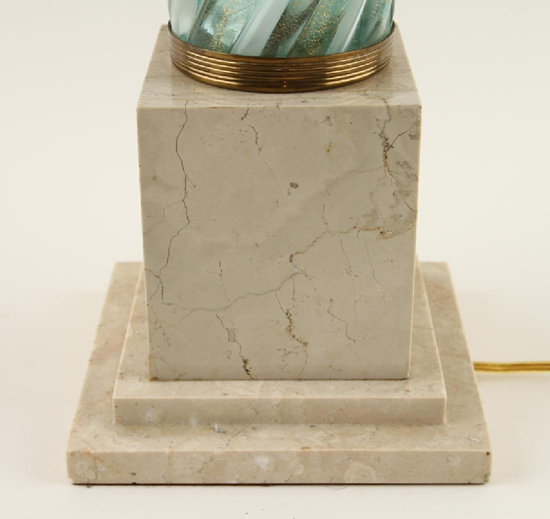 MURANO GLASS TABLE LAMP ON COMPOSITE BASE - 3