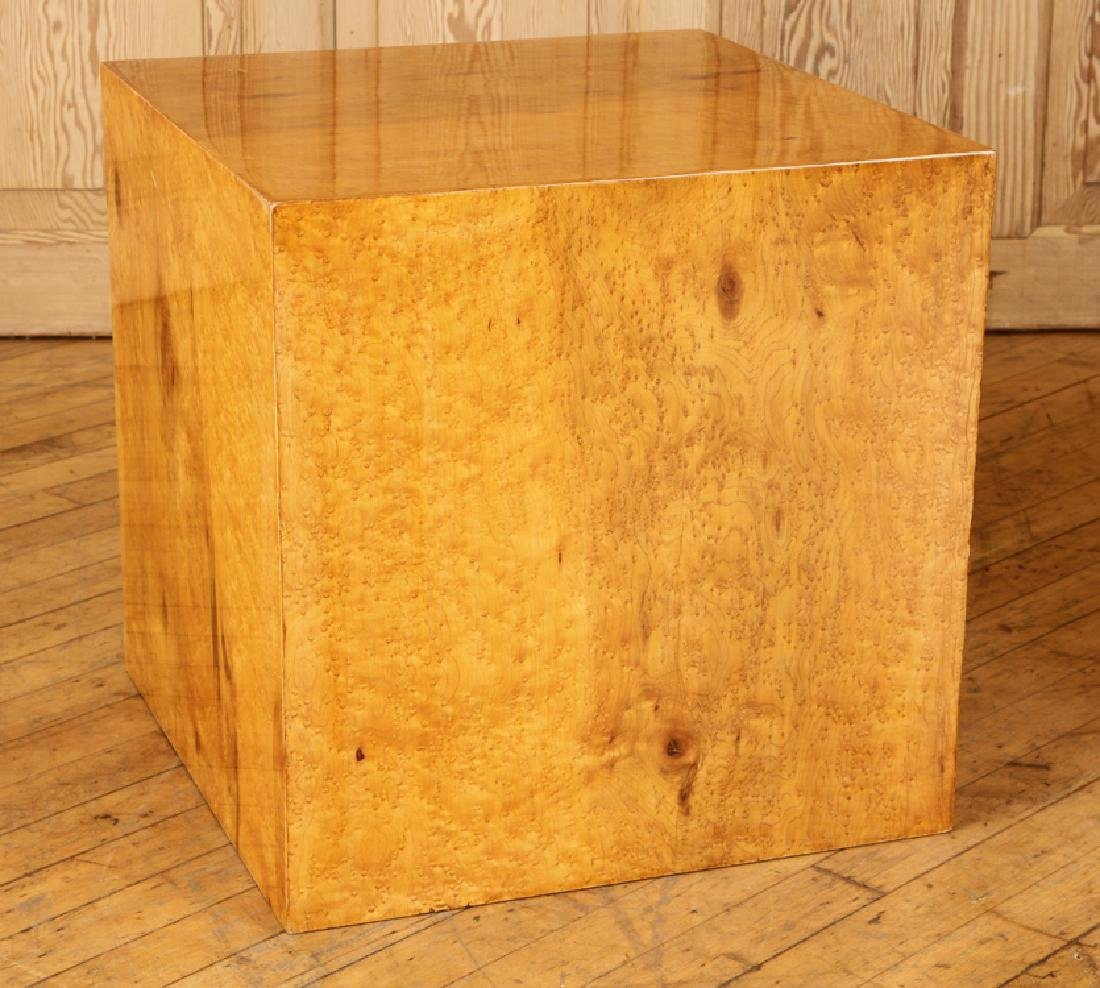 PAIR OF LIGHT WOOD END TABLES - 2