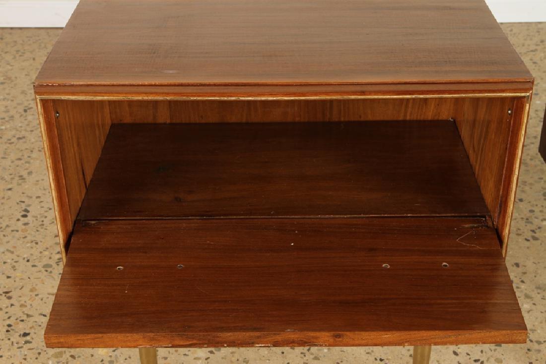 PAIR MID CENTURY MODERN END TABLE CIRCA 1960 - 3