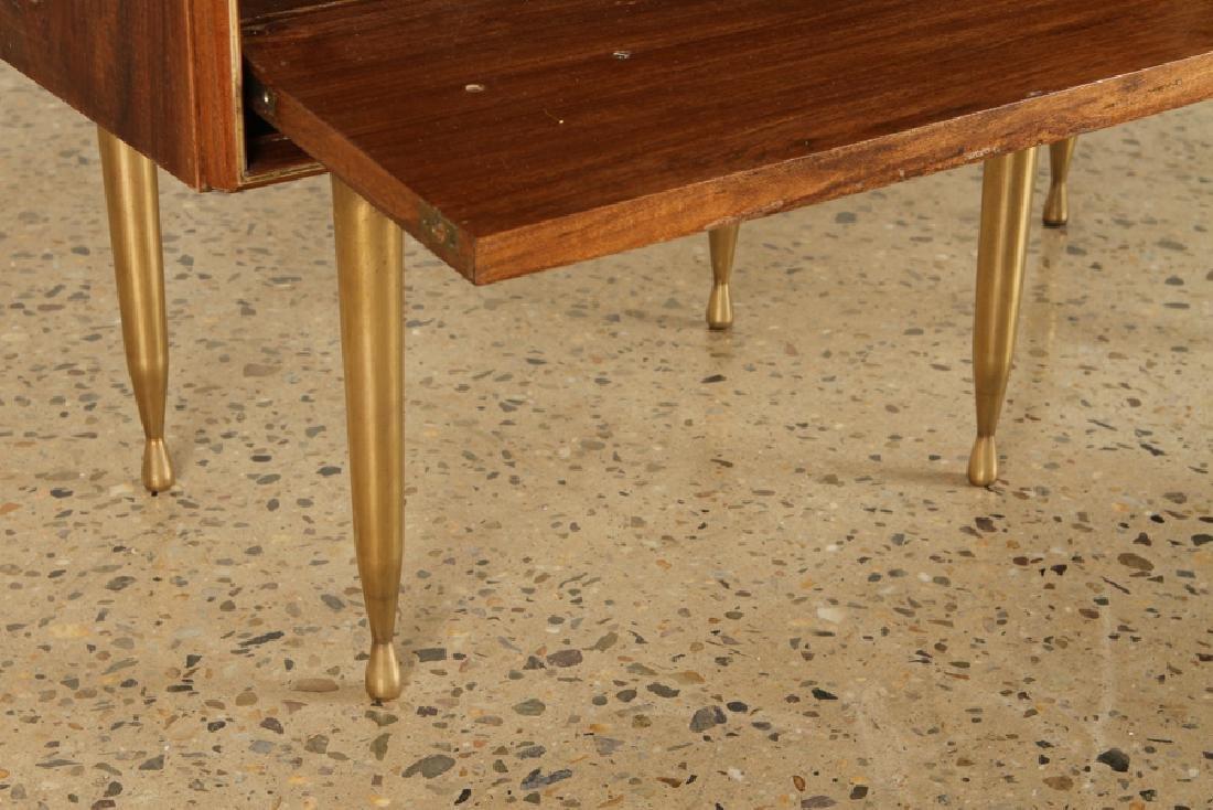PAIR MID CENTURY MODERN END TABLE CIRCA 1960 - 5