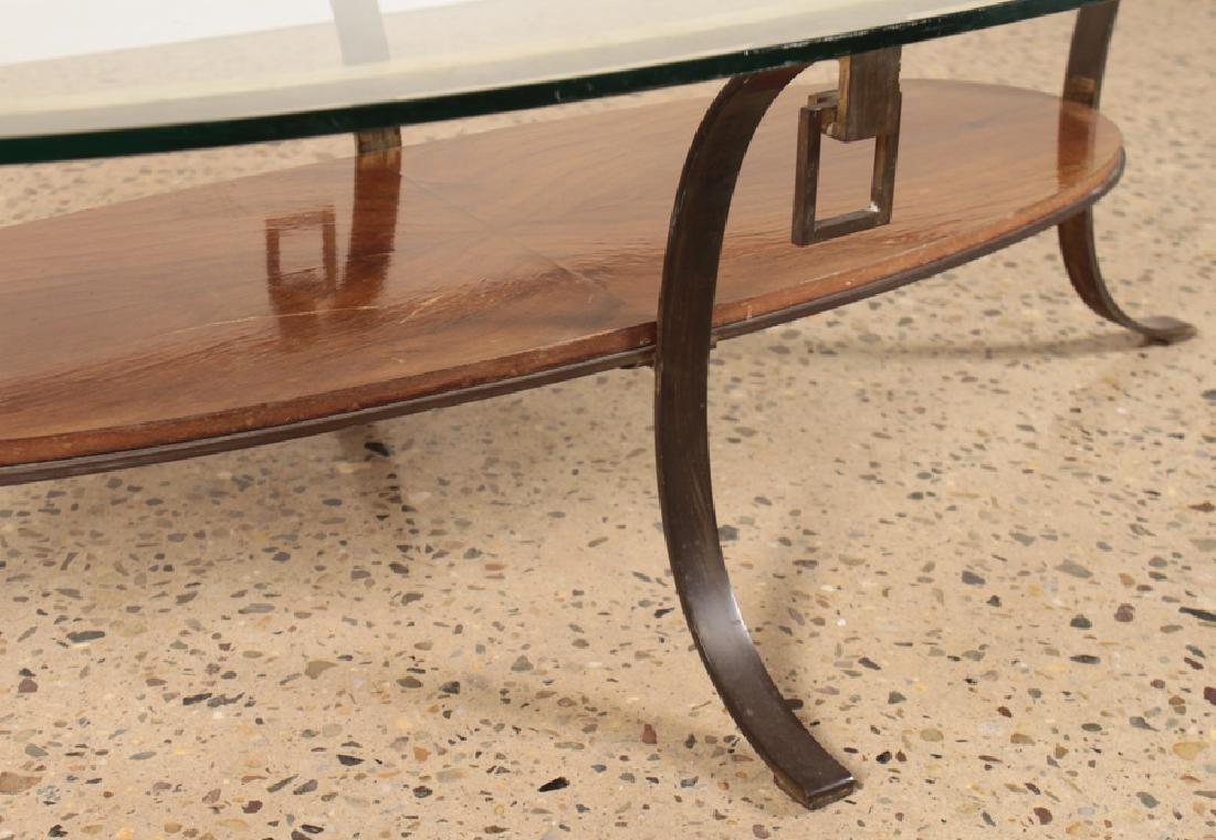 MID CENTURY MODERN BRONZE GLASS COFFEE TABLE 1960 - 4