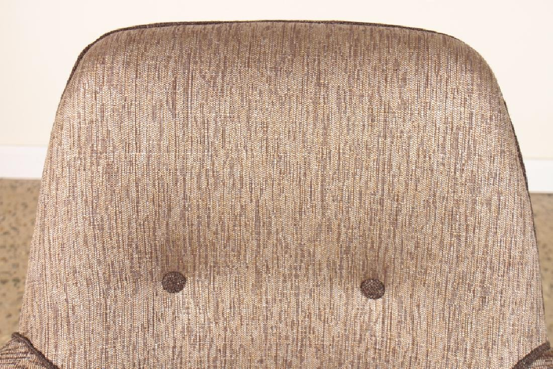 PAIR UPHOLSTERED CLUB CHAIRS MANNER OF GIO PONTI - 4