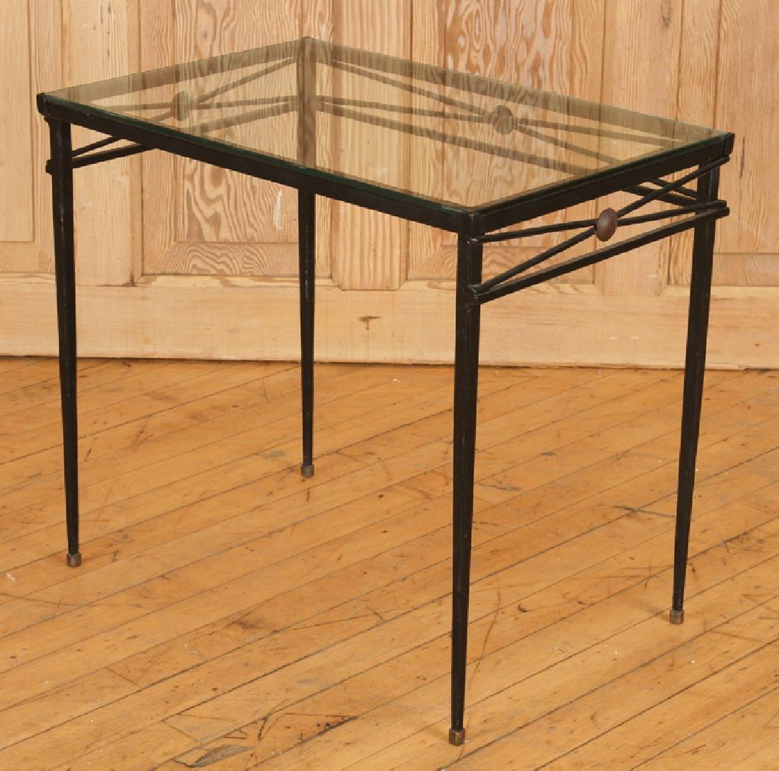 SET IRON BRONZE MOUNTED NESTING TABLES ATTR COMTE - 4