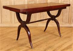 FRENCH MAHOGANY FLIP TOP TABLE ANDRE ARBUS MANNER