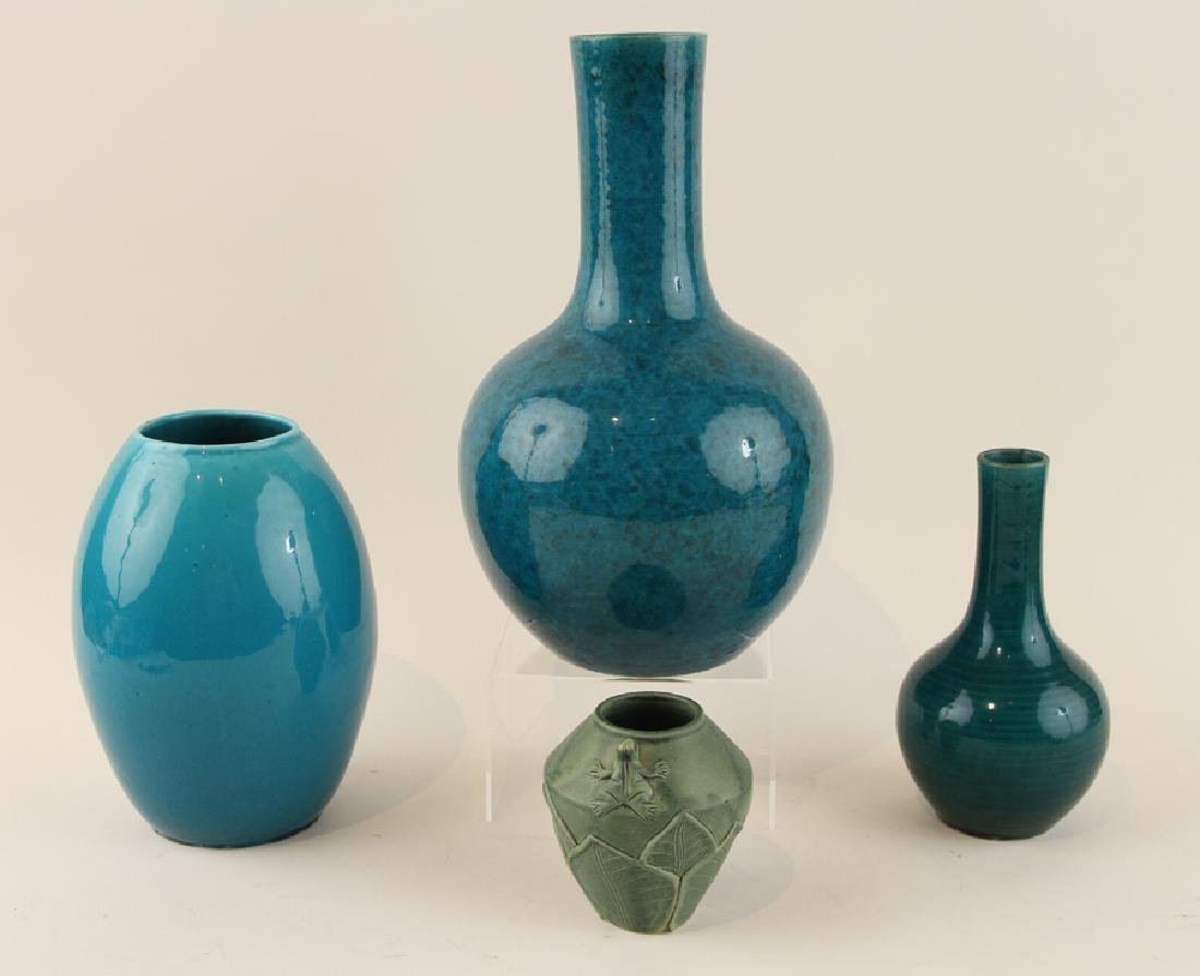 COLLECTION OF FOUR ART POTTERY VASES