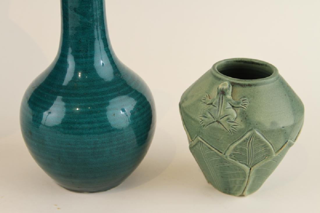 COLLECTION OF FOUR ART POTTERY VASES - 5