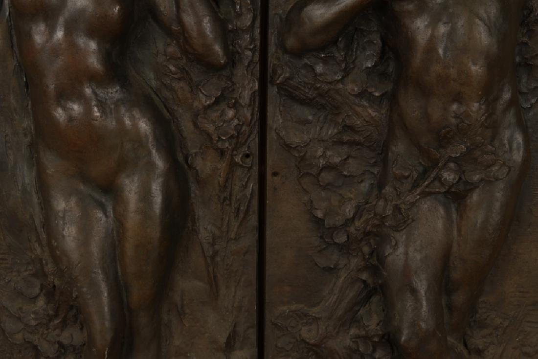 PAIR BRONZE ART NOUVEAU PLAQUES CIRCA 1900 - 3