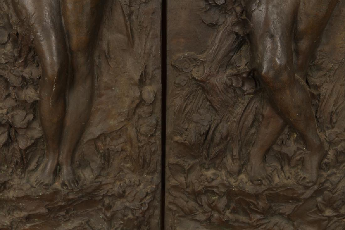 PAIR BRONZE ART NOUVEAU PLAQUES CIRCA 1900 - 4