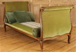 19TH C. FRENCH LOUIS XV STYLE WALNUT DAY BED